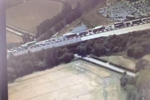 27 people and lorry driver arrested at Cobham Services